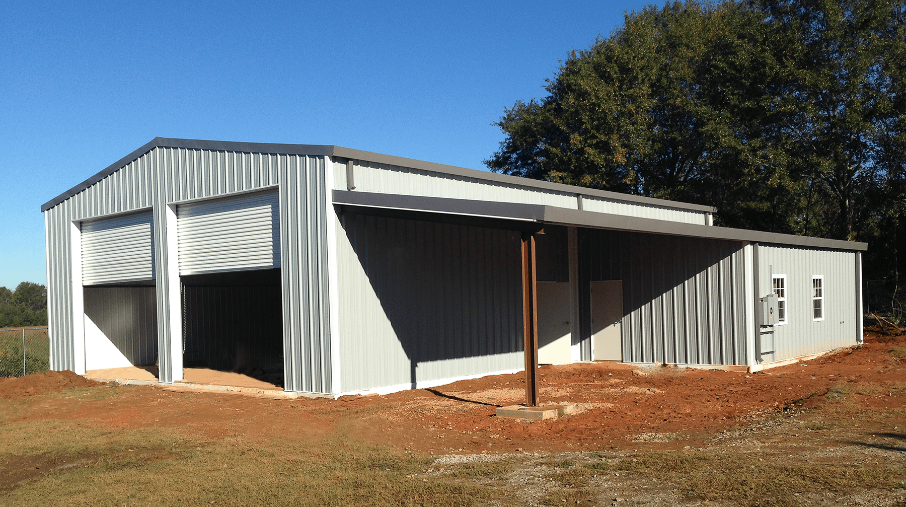 commercial metal roof project