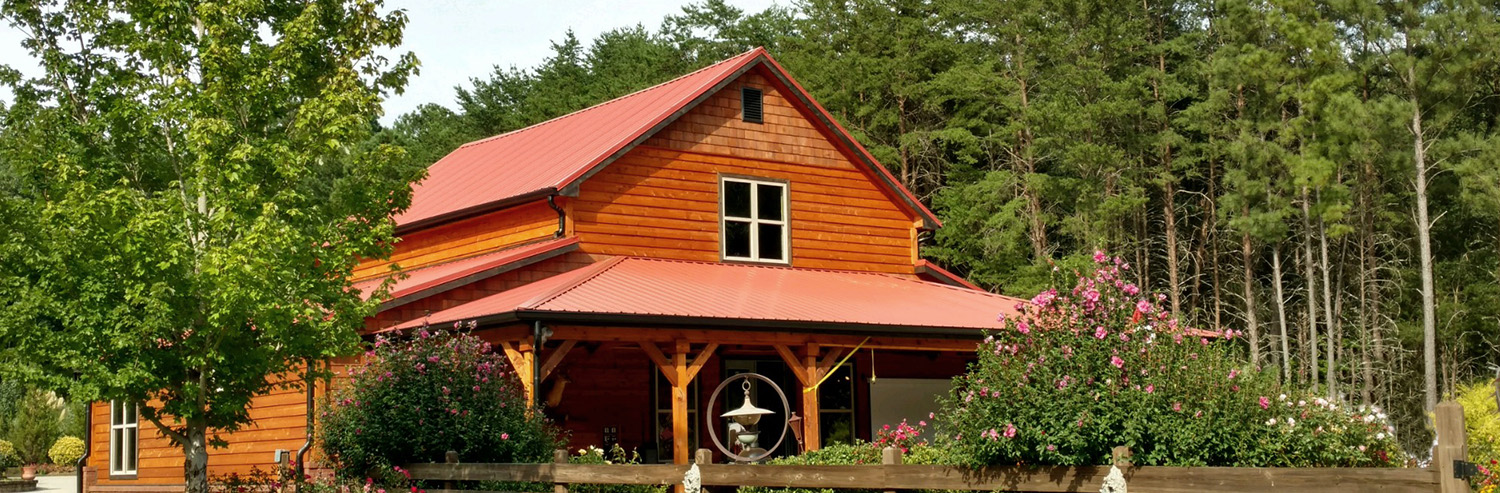 residential red metal roof and trim