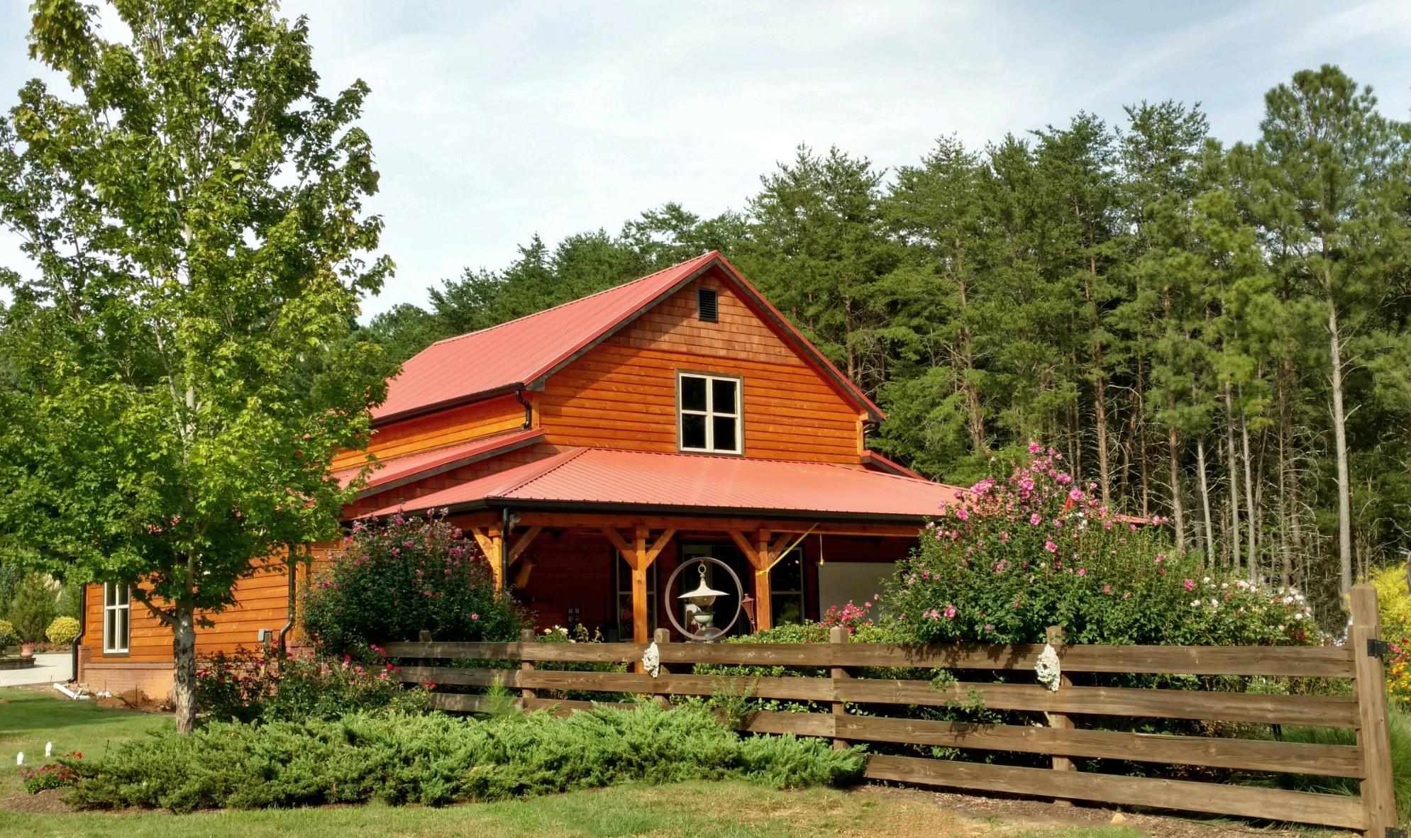 residential metal roof red
